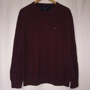 Tommy Hilfiger maroon crew neck sweater